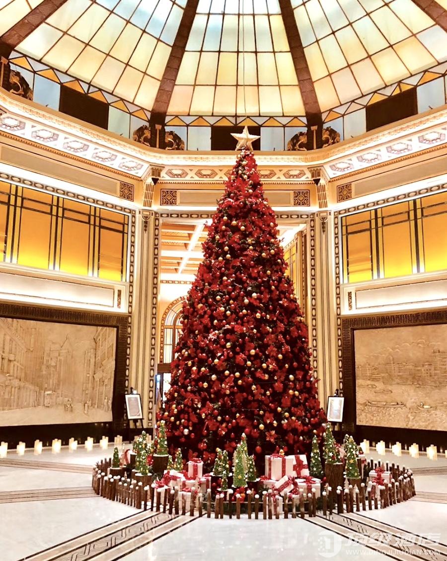 和平饭店圣亮灯仪式 点亮圣诞季