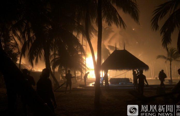 """马尔代夫""""全球5佳酒店""""着火被毁"""