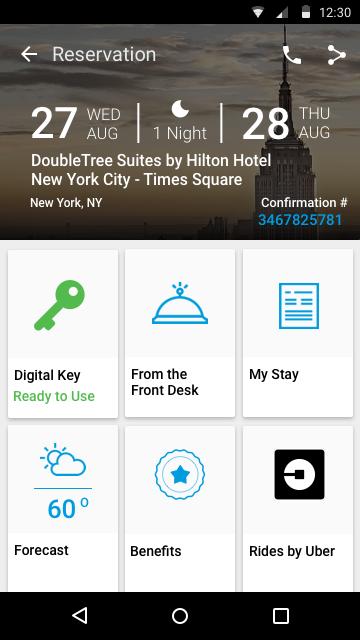 到了明年,希尔顿全球一半的酒店都能用app开门