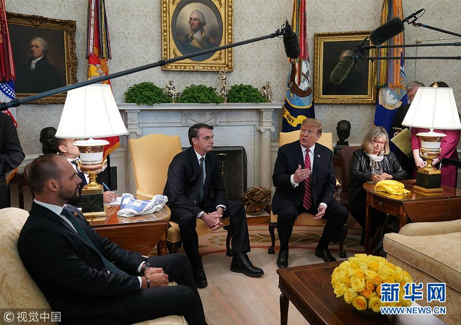 特朗普会见巴西总统博尔索纳罗