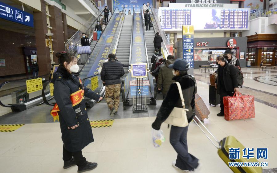北京站:加强疫情防控 守护旅客平安