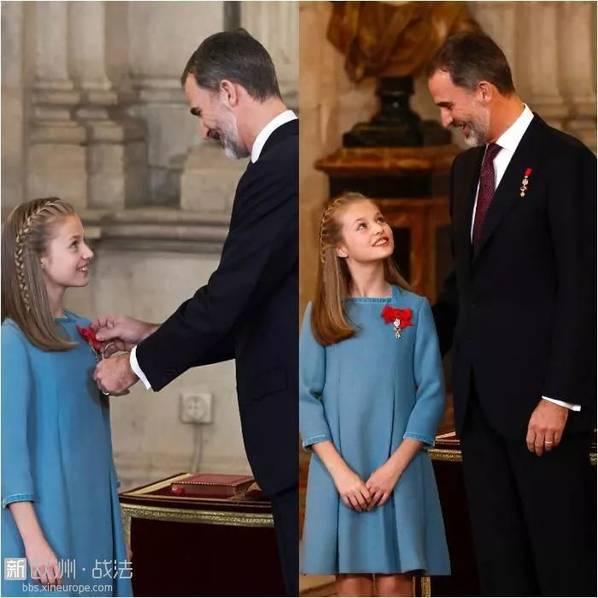 西班牙未来的女王 颜好腿长还会说一口流利的中文