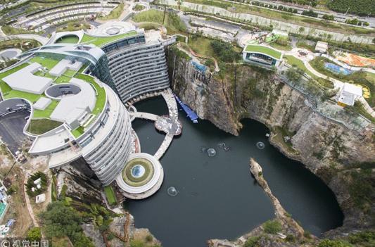 """12年打造的深坑酒店11月20日开业 国内又一个""""世界建筑奇迹""""诞生"""