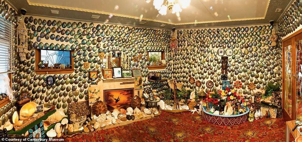 """百万游客见证的爱情!新西兰丈夫为爱妻搭建""""贝壳屋"""" 后被博物馆收录"""