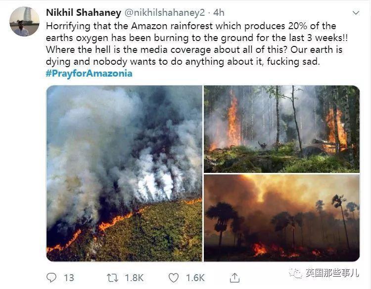 亚马逊雨林大火连烧三周 城市白天宛如黑夜!巴西总统:正常操作