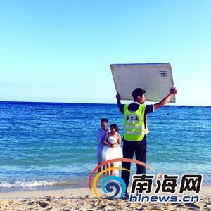 游客三亚拍婚照遭驱赶 酒店:游客入内破坏生态