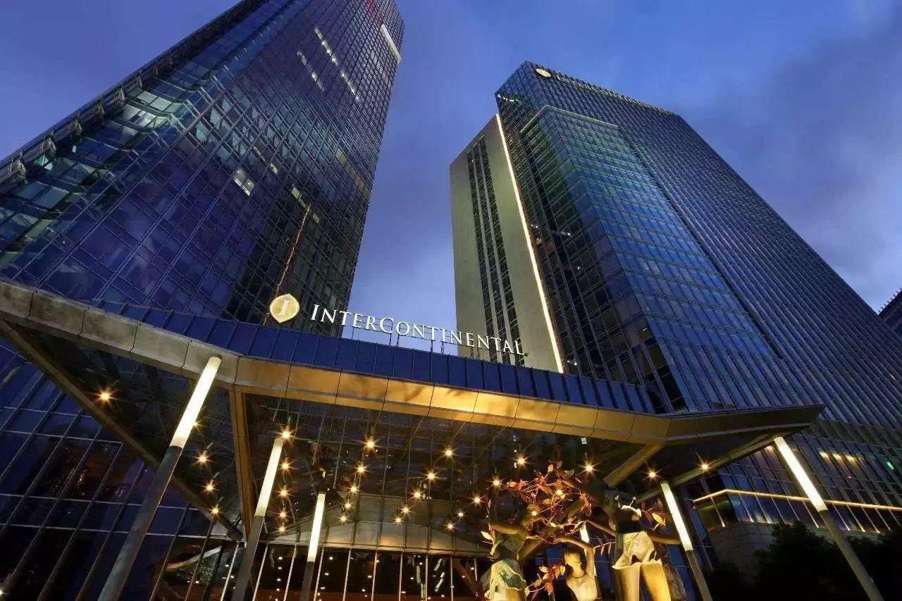 上海浦西洲际酒店   深色是一种品质,美食是生活的格调