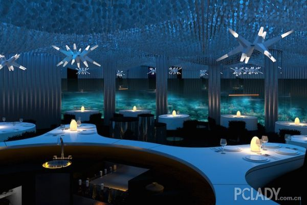 水下天堂:遨游马尔代夫的海浪餐厅