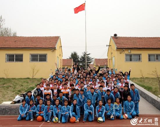 """""""释放活力,奔向未来""""青岛香格里拉大酒店向胶州大高小学捐赠运动器械"""