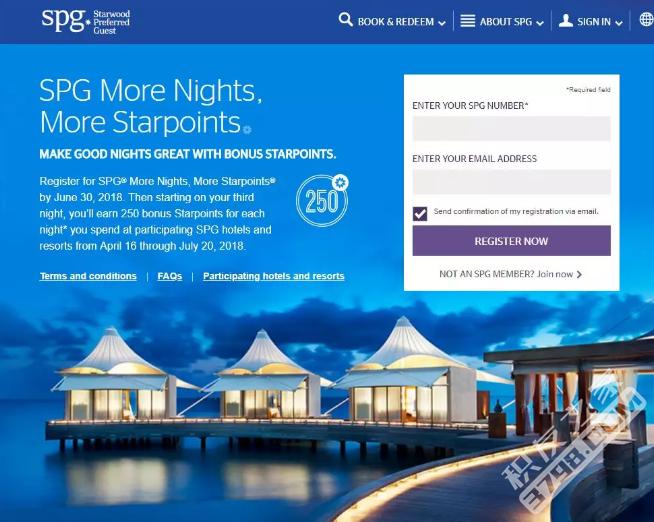 SPG+Marriott 喜达屋+万豪 促销活动【2018.5更新:Targeted AmEx Offer 酒店消费返30% 】